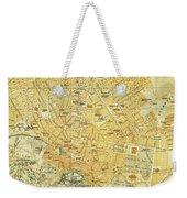 Vintage Map Of Athens Greece - 1894 Weekender Tote Bag