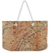 Vintage Map Of Hamburg Germany - 1910 Weekender Tote Bag