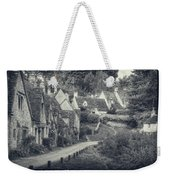 Vintage Photo Effect Medieval Arlington Row In Cotswolds Country Weekender Tote Bag