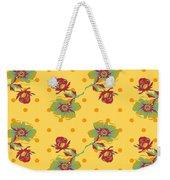 Vintage Wallpaper Seamless Rose Flower Pattern On Circles Polka  Weekender Tote Bag