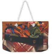 Violin Case And Flowers Weekender Tote Bag