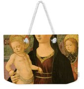 Virgin And Child With An Angel Weekender Tote Bag