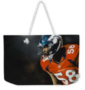 Von Miller Weekender Tote Bag by Don Medina