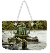 Waiting Out The Snow Weekender Tote Bag