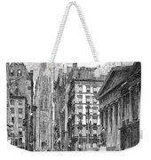 Wall Street, 1889 - To License For Professional Use Visit Granger.com Weekender Tote Bag