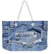 Worn Jeans Weekender Tote Bag