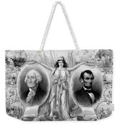 Washington And Lincoln Weekender Tote Bag