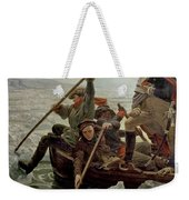 Washington Crossing The Delaware River Weekender Tote Bag by Emanuel Gottlieb Leutze