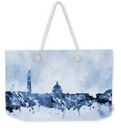 Washington Skyline-blue Weekender Tote Bag