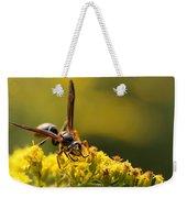 Wasp On Wildflower Weekender Tote Bag