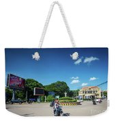 Wat Damnak Roundabout In Central Siem Reap City Cambodia Weekender Tote Bag