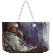 Man Watching Tv  Weekender Tote Bag