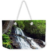 Water Cascading Over Rocky Cliffs Weekender Tote Bag