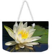 Water Lily Weekender Tote Bag by Valeria Donaldson