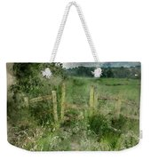 Watercolor Painting Of Beautiful Vibrant Summer Sunrise Over Eng Weekender Tote Bag