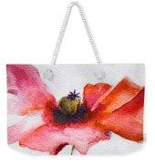 Watercolor Poppy Flower Weekender Tote Bag