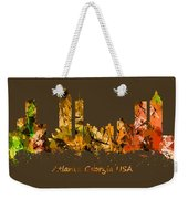 Watercolour Art Print Of The Skyline Of Atlanta Georgia Usa Weekender Tote Bag