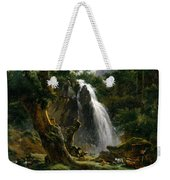 Waterfall At Mont-dore Weekender Tote Bag