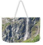 Waterfall In Geiranger Norway Weekender Tote Bag