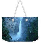 Waterfall In The Mountains Weekender Tote Bag