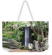waterfall in tripcal garden Monte Madeira Weekender Tote Bag