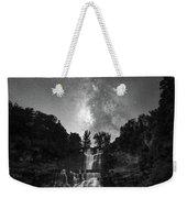 Waterfall Milky Way Weekender Tote Bag