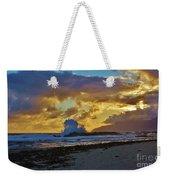 Waves At Sunrise Weekender Tote Bag