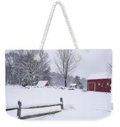 Wayside Inn Grist Mill Covered In Snow Storm Weekender Tote Bag