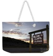 Welcome To Colorful Colorado Weekender Tote Bag