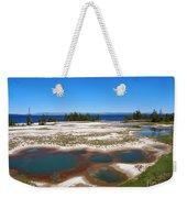 West Thumb Geyser Basin In Yellowstone National Park Weekender Tote Bag