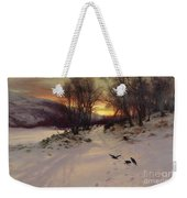 When The West With Evening Glows Weekender Tote Bag