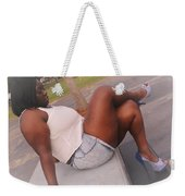 White And Jeans Weekender Tote Bag
