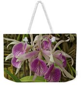White And Purple Orchids Weekender Tote Bag