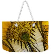 White Butterfly On Sunflower Weekender Tote Bag