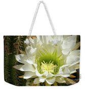 White Cactus Flower Weekender Tote Bag