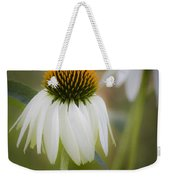 White Coneflower Weekender Tote Bag