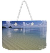 White Double Hull Canoe Weekender Tote Bag