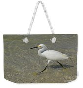 White Egret Bird On The Beach Weekender Tote Bag