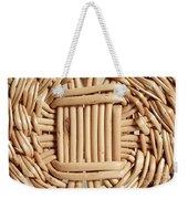 Wicker Basket Weekender Tote Bag