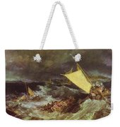 William Turner - The Shipwreck Joseph Mallord William Turner Weekender Tote Bag