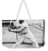 Willie Mays (1931- ) Weekender Tote Bag by Granger