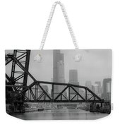 Willis Tower In Fog Weekender Tote Bag