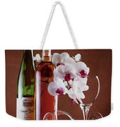 Wine And Orchids Still Life Weekender Tote Bag