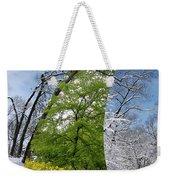 Winter And Summer Weekender Tote Bag
