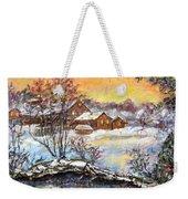 Winter Evening. Weekender Tote Bag