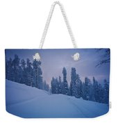 Winter Forest In The Mountains Weekender Tote Bag
