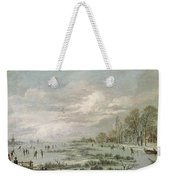 Winter Landscape Weekender Tote Bag by Aert van der Neer