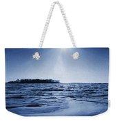Winter Setting Sun Blue Toned Weekender Tote Bag