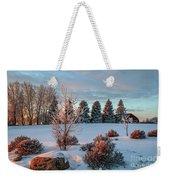 Winter Sunset In Weyburn Weekender Tote Bag