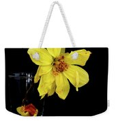 Withered Lifeless Dahlia Flower Weekender Tote Bag